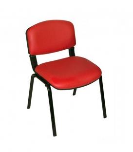 Türksit Form Sandalye 2 Adet Set Kirmizi - Deri