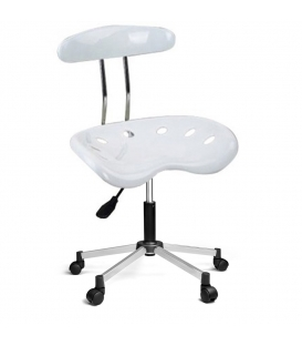 Türksit Nil Sandalye Krom Ayak Beyaz