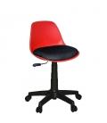 Türksit Çalışma Sandalyesi Plastik Ayak Kırmızı